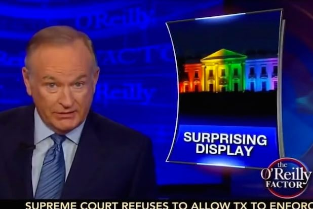 Bill O'Reilly Calls White House's Gay Marriage Celebration 'Wrong