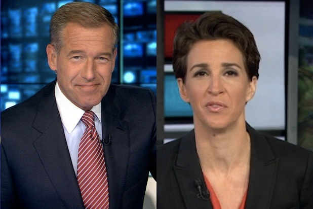 Image result for rachel maddow and brian williams