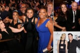 "Team ""Empire"" with Queen Latifah, the ""Veep"" suite, and Louis XIII Genius Seth MacFarlane with Charlize Theron at the Critics Choice TV Awards on Sunday night, May 31. (Getty Images)"