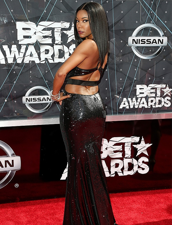 LOS ANGELES, CA - JUNE 28: Actress Gabrielle Union attends the 2015 BET Awards at the Microsoft Theater on June 28, 2015 in Los Angeles, California. (Photo by Frederick M. Brown/Getty Images for BET)