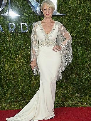 Helen Mirren attends the 2015 Tony Awards