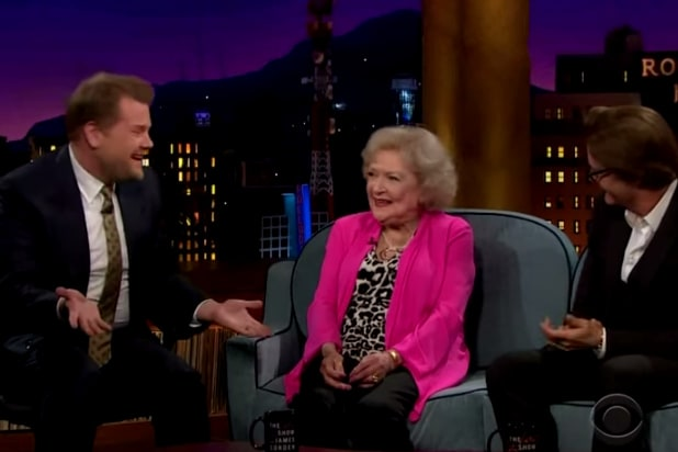 James Corden Betty White