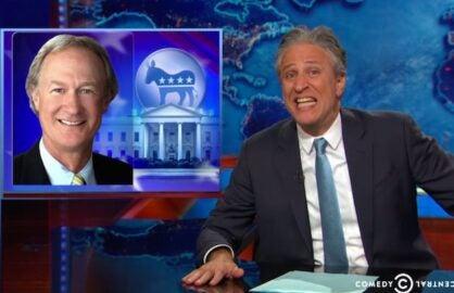 Jon Stewart Lincoln Chafee Daily Show