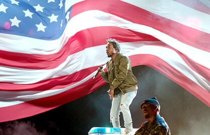 hristopher Polk/BET / Contributor Caption:LOS ANGELES, CA - JUNE 28: Recording artist Kendrick Lamar performs onstage during the 2015 BET Awards at the Microsoft Theater on June 28, 2015 in Los Angeles, California. (Photo by Christopher Polk/BET/Getty Images for BET)