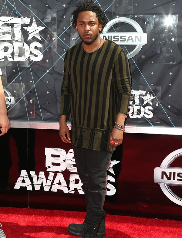 LOS ANGELES, CA - JUNE 28: Rapper Kendrick Lamar attends the 2015 BET Awards at the Microsoft Theater on June 28, 2015 in Los Angeles, California. (Photo by Frederick M. Brown/Getty Images for BET)