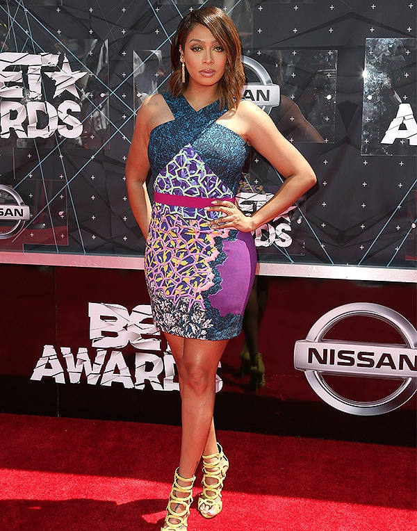 LOS ANGELES, CA - JUNE 28: Actress La La Anthony attends the 2015 BET Awards at the Microsoft Theater on June 28, 2015 in Los Angeles, California. (Photo by Frederick M. Brown/Getty Images for BET)