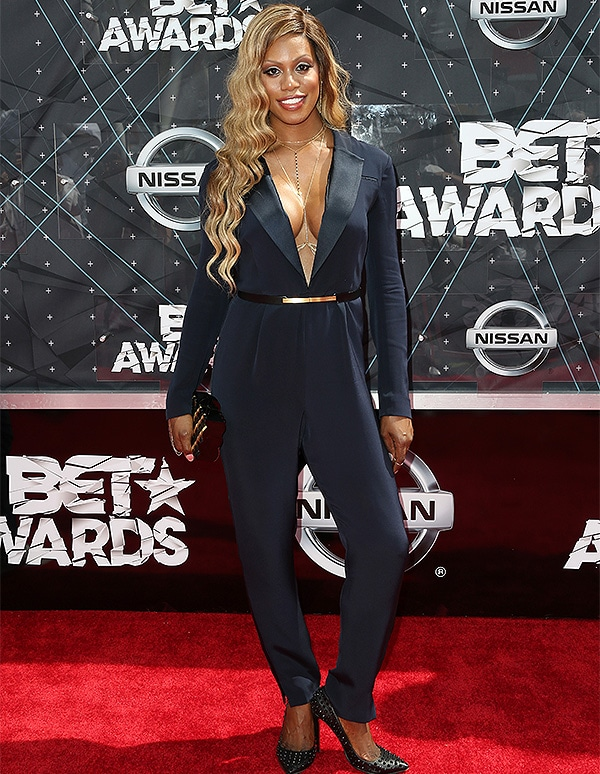 LOS ANGELES, CA - JUNE 28: Actress Laverne Cox attends the 2015 BET Awards at the Microsoft Theater on June 28, 2015 in Los Angeles, California. (Photo by Frederick M. Brown/Getty Images for BET)