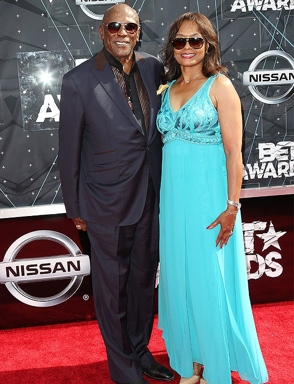 LOS ANGELES, CA - JUNE 28: Actor Louis Gossett Jr. (L) and guest attend the 2015 BET Awards at the Microsoft Theater on June 28, 2015 in Los Angeles, California. (Photo by Frederick M. Brown/Getty Images for BET)