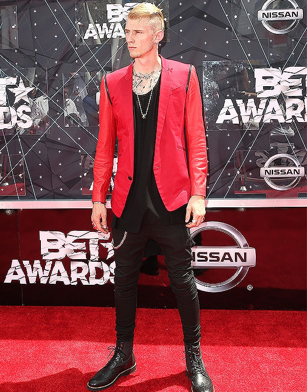 LOS ANGELES, CA - JUNE 28: Rapper Machine Gun Kelly attends the 2015 BET Awards at the Microsoft Theater on June 28, 2015 in Los Angeles, California. (Photo by Frederick M. Brown/Getty Images for BET)
