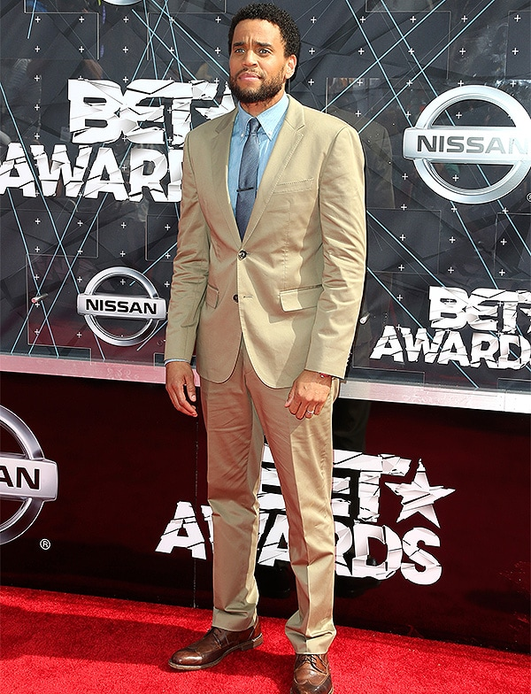 Caption:LOS ANGELES, CA - JUNE 28: Actor Michael Ealy attends the 2015 BET Awards at the Microsoft Theater on June 28, 2015 in Los Angeles, California. (Photo by Frederick M. Brown/Getty Images for BET)