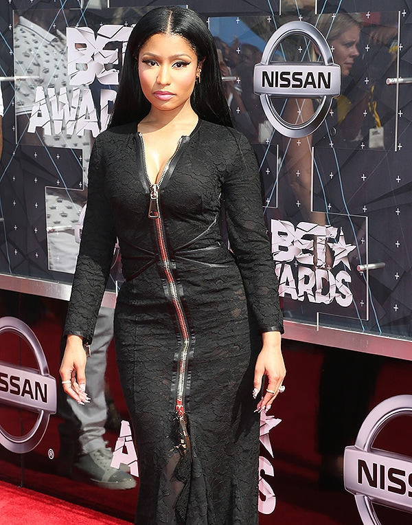 LOS ANGELES, CA - JUNE 28: Recording artist Nicki Minaj attends the 2015 BET Awards at the Microsoft Theater on June 28, 2015 in Los Angeles, California. (Photo by Frederick M. Brown/Getty Images for BET)