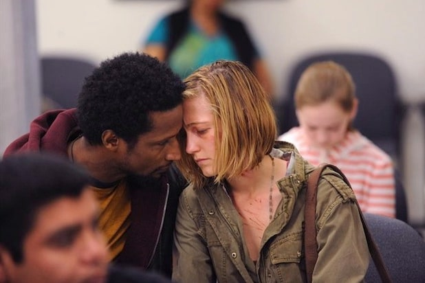 Elvis Nolasco and Caitlin Gerard in American Crime