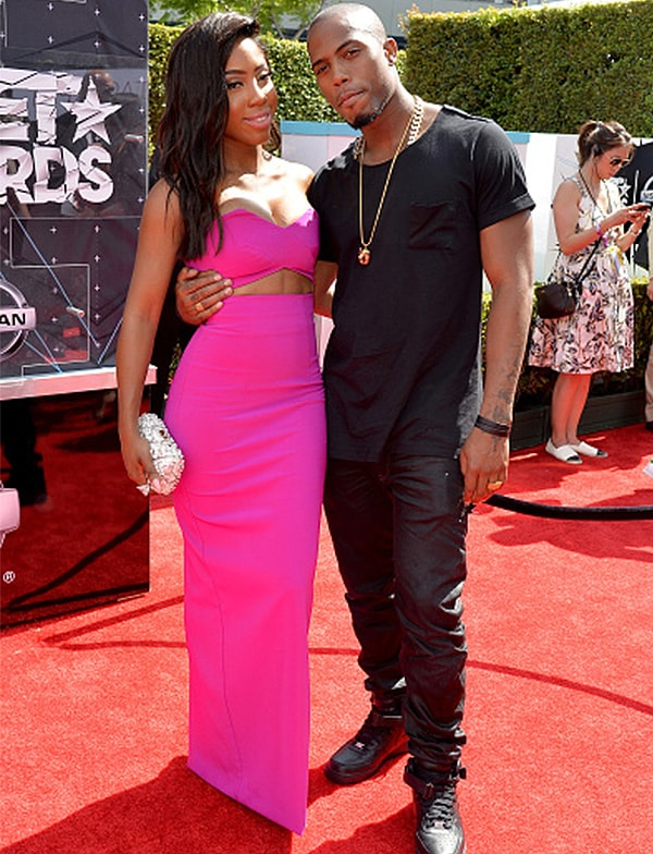 LOS ANGELES, CA - JUNE 28: Recording artists Sevyn Streeter (L) and B.o.B attend the 2015 BET Awards at the Microsoft Theater on June 28, 2015 in Los Angeles, California. (Photo by Earl Gibson/BET/Getty Images for BET)