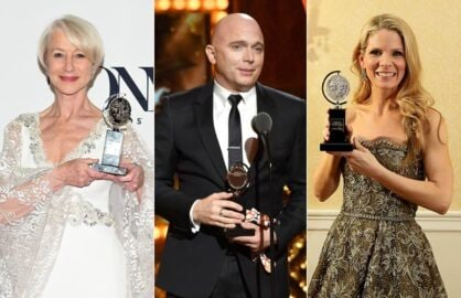 Helen Mirren, Michael Cerveris and Kelli O'Hara/Getty Images