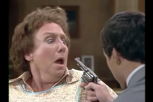 "Jean Stapleton as Edith Bunker in ""All in the Family"" (CBS)"