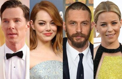 Benedict Cumberbatch, Emma Stone, Tom Hardy, Elizabeth Banks (Getty Images)