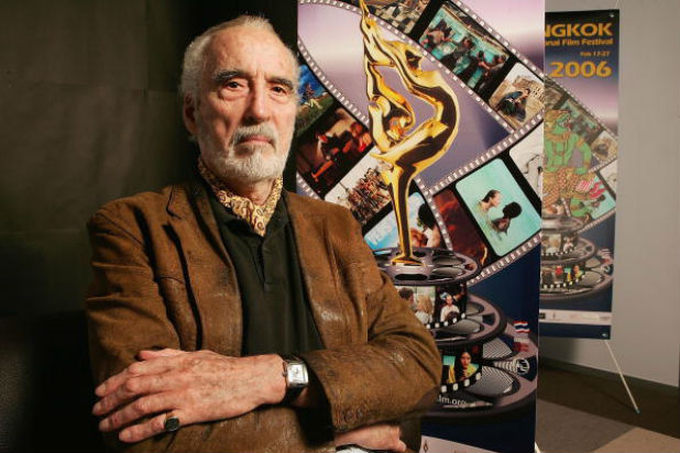 Christopher Lee Count Dracula And Lord Of The Rings Star Dead