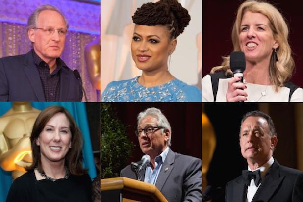 Michael Mann, Ava DuVernay, Rory Kennedy, Kathy Kennedy, Hawk Koch, Tom Hanks