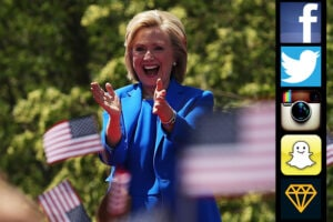 Democratic Presidential candidate Hillary Clinton in New York (Spencer Platt/Getty Images)
