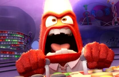 The character Anger from the Disney Pixar movie Inside Out