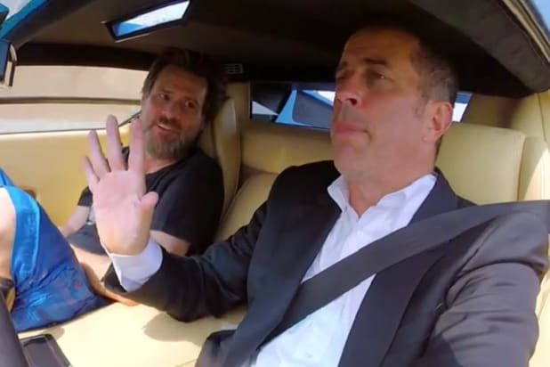 jerry seinfeld jim carrey talk oj pulp in 39 comedians in cars getting coffee 39 preview video. Black Bedroom Furniture Sets. Home Design Ideas