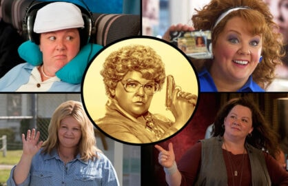 Melissa McCarthy in Spy, Bridesmaids, Identity Thief, The Heat, Tammy