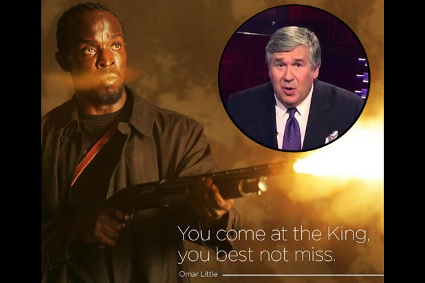 Michael Kenneth Williams as Omar Little (HBO); Bob Ley (ESPN)