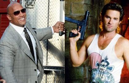 """dwayne johnson rock-big-trouble-little-chinaThe Rock; Kurt Russell in """"Big Trouble in Little China"""" (Getty; Fox)"""