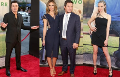 Seth MacFarlane; Rhea Durham and Actor Mark Wahlberg; Amanda Seyfried (Neilson Barnard/Getty Images)
