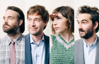 Will Forte, Mark Duplass, Carrie Brownstein and Jay Duplass photographed for TheWrap by Adam Amengual
