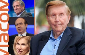 Clockwise from right: Sumner Redstone, Shari Redstone, Philippe Dauman, Leslie Moonves / Getty Images