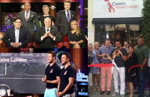 """""""Shark Tank"""" success """"Cousins Maine Lobster"""" celebrated a brick-and-mortar grand opening in West Hollywood on Wednesday night. (ABC (2); C. Jordan Bishop)"""