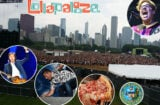 Lollapalooza 2015 begins Friday, July 31 in Chicago's Grant Park. (Background image by Mikey Glazer, insets clockwise from top right, Getty Images, City of Chicago, Lou Malnati's, Getty Images (2))