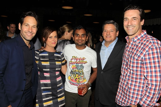 Paul Rudd, Amy Poehler, Aziz Ansari, Ted Sarandos (Chief Content Officer; Netlfix), Jon Hamm