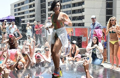 LOS ANGELES, CA - JULY 05: Singer Demi Lovato performs at 102.7 Kiis FM's Cool For The Summer' Pool Party at the WaterMarke Tower on July 5, 2015 in Los Angeles, California. (Photo by Michael Buckner/Getty Images)