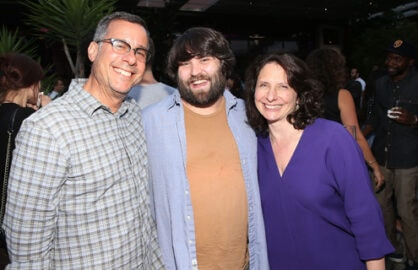 Alterman,  John Gemberling and President of Comedy Central, Michele Ganeless. (Jesse Grant/Getty Images)