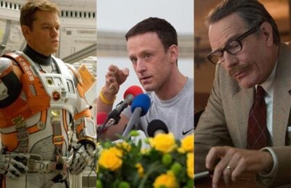 Matt Damon in The Martian, Ben Foster in The Program and Bryan Cranston in Trumbo