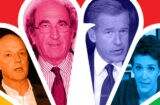 MSNBC President Phil Griffin, NBC News Chairman Andrew Lack, Brian Williams, Rachel Maddow (Getty Images)