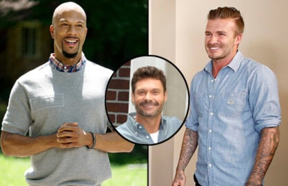 Common (Annette Brown/FOX); Ryan Seacrest (Diego Corredor/FOX); David Beckham (Greg Gayne/FOX)