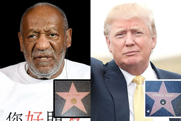 Bill Cosby, Donald Trump to Keep Their Stars on Hollywood ...