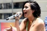 "LOS ANGELES, CA - JULY 05: Singer Demi Lovato performs at 102.7 Kiis FM's Cool For The Summer"" Pool Party at the WaterMarke Tower on July 5, 2015 in Los Angeles, California. (Photo by Michael Buckner/Getty Images)"