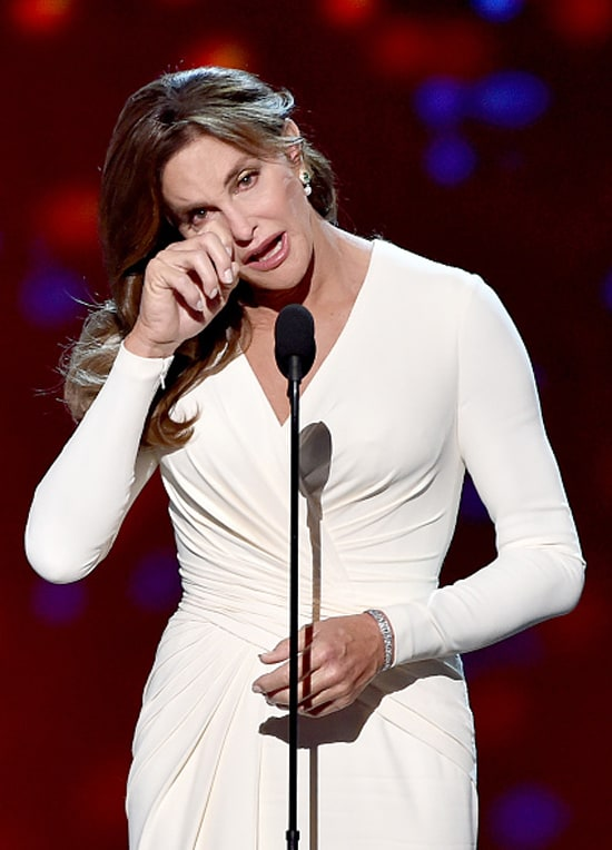 ESPYS: Caitlyn Jenner accepts the Arthur Ashe Courage Award (Getty)