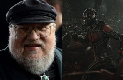 "George RR Martin loves ""Ant-Man"" (Getty; Marvel)"
