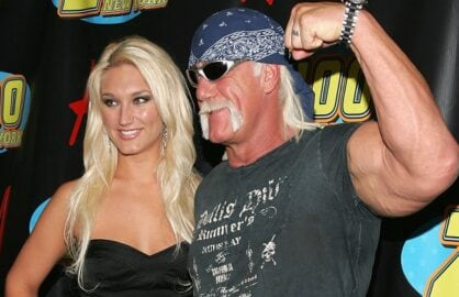 NEW YORK - DECEMBER 15: Singer Brooke Hogan and her father Hulk Hogan pose in the press room at Z100's Jingle Ball 2006 at Madison Square Garden December 15, 2006 in New York City. (Photo by Bryan Bedder/Getty Images)