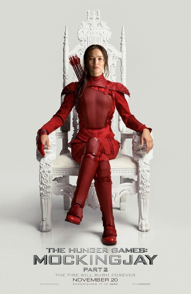 Full size Hunger Games Mockingjay Part 2 Katniss poster Jennifer Lawrence (Lionsgate)