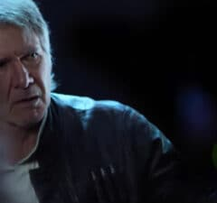 Harrison Ford as Han Solo, Star Wars:The Force Awakens Comic-Con 2015 reel (Walt Disney)