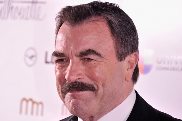 NEW YORK, NY - NOVEMBER 14: Actor Tom Selleck attends the PowerWomen 2013 awards on November 14, 2013 in New York City. (Photo by Stephen Lovekin/Getty Images)
