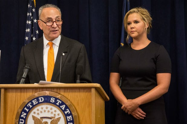 ac715951679f Amy Schumer Joins Cousin Sen. Chuck Schumer on Gun Control After ...