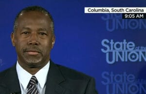 "Carson appears on ""State of the Union"" on August 23, 2015"
