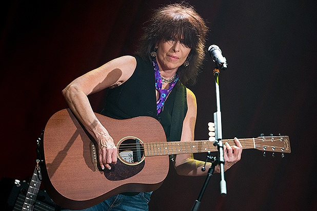 NASHVILLE, TN - NOVEMBER 10: Musician Chrissie Hynde performs at Ryman Auditorium on November 10, 2014 in Nashville, Tennessee. (Photo by Terry Wyatt/Getty Images)